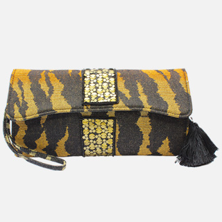Tiger Print Clutch Bag